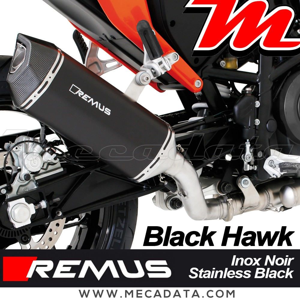 silencieux pot d 39 chappement ktm 690 duke 4 2012 2015 remus black hawk. Black Bedroom Furniture Sets. Home Design Ideas