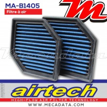 Filtre à air Sport ~ BMW K 1200 S - 2 required (K12S) 2005-2008 ~ Airtech Nikko Racing