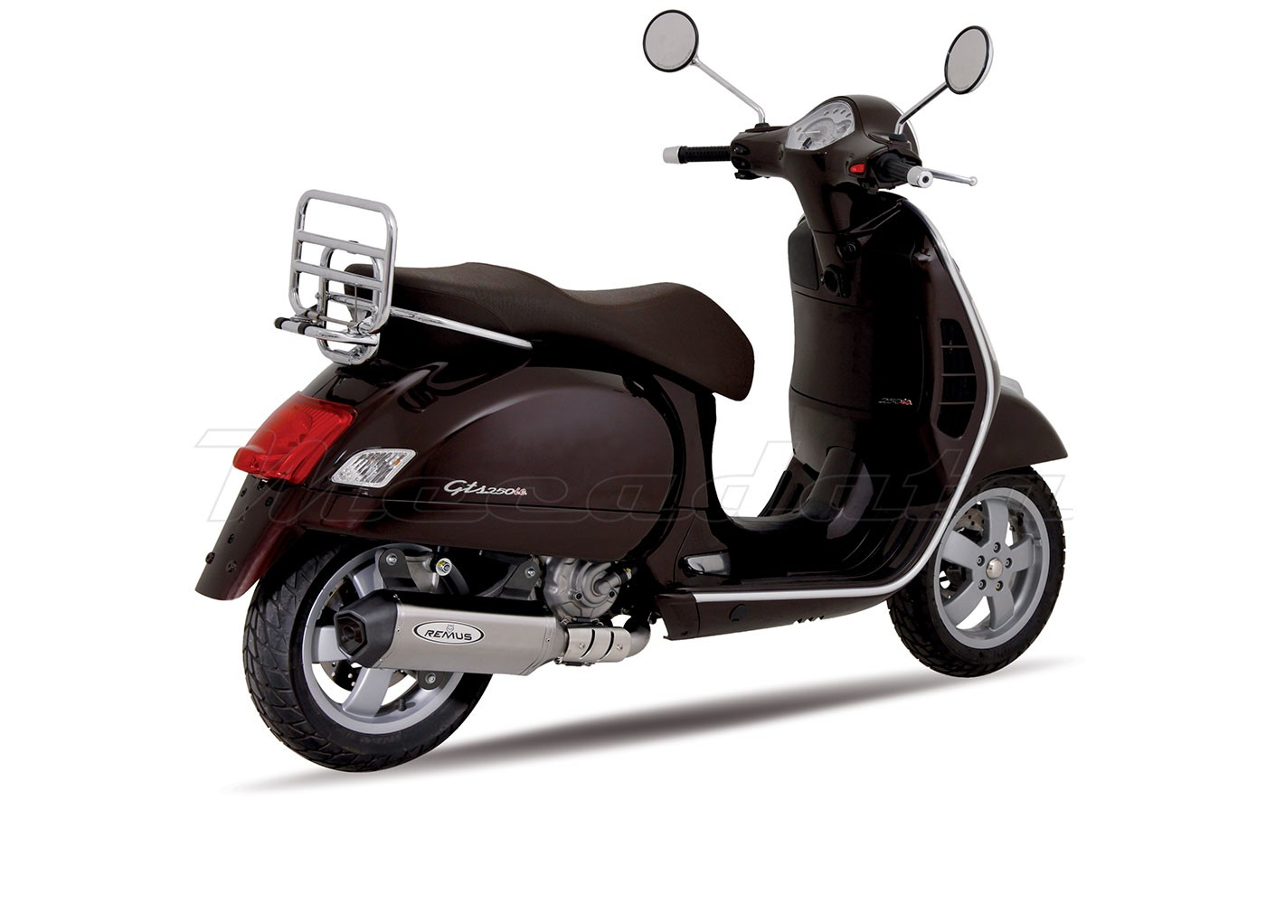 echappement remus inox piaggio vespa gts 250 i e 05. Black Bedroom Furniture Sets. Home Design Ideas