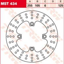 Disque de frein Arrière TRW Lucas MST 434 pour Triumph 1050 Speed Triple ABS 515NV 11-