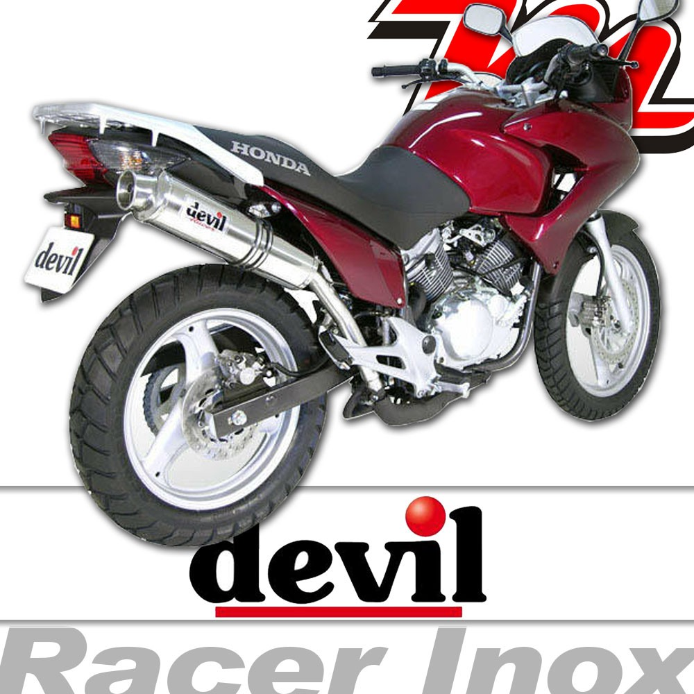 silencieux pot chappement devil racer inox honda varadero 2000 2015. Black Bedroom Furniture Sets. Home Design Ideas