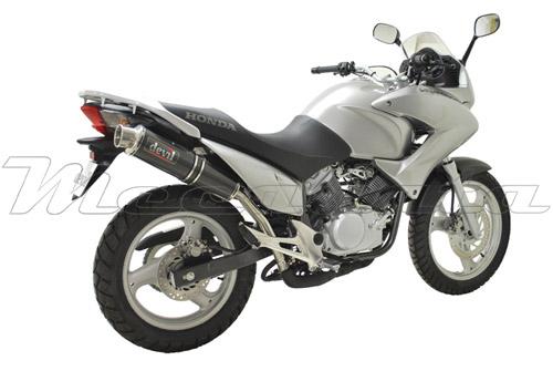 Honda Varadero 125 2000+ équipée du silencieux Devil Racer Carbone 54439