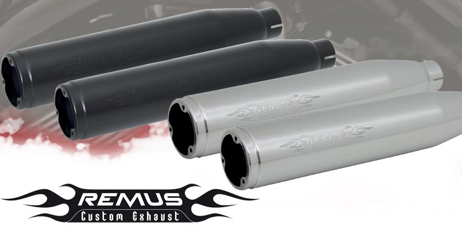silencieux pot chappement remus custom exhaust variocap sans embout. Black Bedroom Furniture Sets. Home Design Ideas