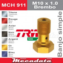 Vis à tête creuse M10 x 1,0 Brembo