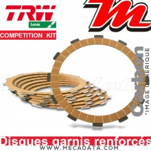 Disques d'embrayage garnis renforcés Compétition ~ KTM SX 380 1998-2002 ~ TRW Lucas MCC 501-9C