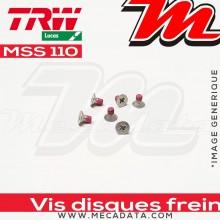 Jeu de vis de fixation pour disques de frein M6 x 1.00 - 6 pièces