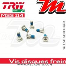 Jeu de vis de fixation pour disques de frein M8 x 1.25 - 6 pièces