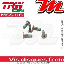 Jeu de vis de fixation pour disques de frein M8 x 1.25 - 5 pièces