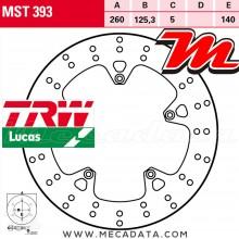 Disque de frein Avant ~ Gilera 250 Nexus (M35) 2006-2008 ~ TRW Lucas MST 393
