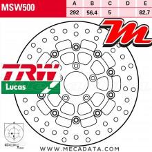 Disque de frein Avant ~ Harley Davidson XL 1200 L Sportster Low (XL2) 2007-2010 ~ TRW Lucas MSW 500