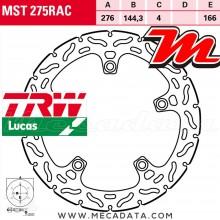 Disque de frein Avant ~ Honda CBR 125 R (JC50) 2011+ ~ TRW Lucas MST 275 RAC