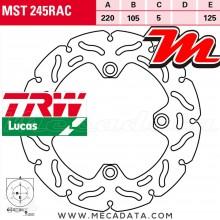 Disque de frein Arrière ~ Honda CBR 125 R (JC50) 2011+ ~ TRW Lucas MST 245 RAC