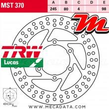 Disque de frein Avant ~ MBK XQ 125 Thunder (SE05) 2001+ ~ TRW Lucas MST 370