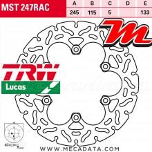 Disque de frein Arrière ~ Voxan 1000 Scrambler (SC) 2003+ ~ TRW Lucas MST 247 RAC