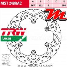 Disque de frein Arrière ~ Yamaha XJR 1300 (RP02) 1999-2001 ~ TRW Lucas MST 248 RAC
