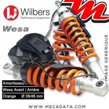 Kit amortisseurs Wilbers WESA ~ BMW R 1200 RT [ESA II WP] (R 12 T) ~ Années 2010 - 2013 (Avant / Arrière)