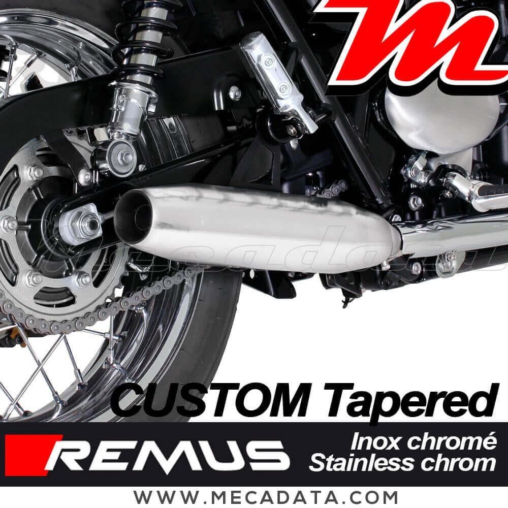 Paire De Silencieux Pot Déchappement Remus Custom Tapered Triumph