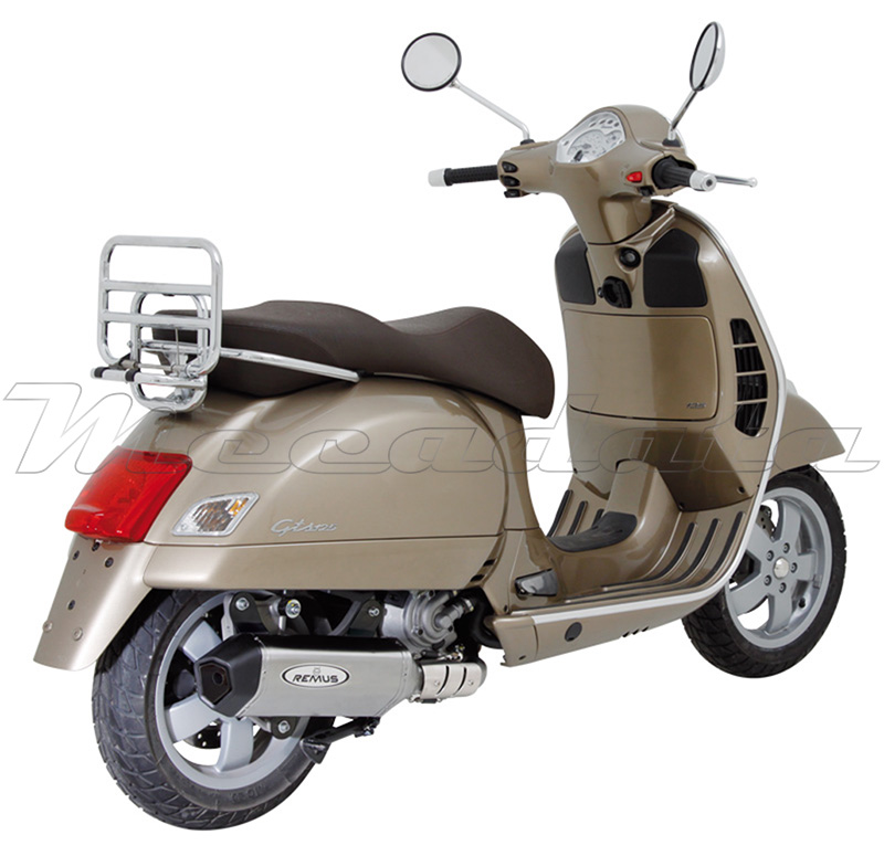 silencieux pot chappement remus inox piaggio vespa 125 gts 125 09 ebay. Black Bedroom Furniture Sets. Home Design Ideas